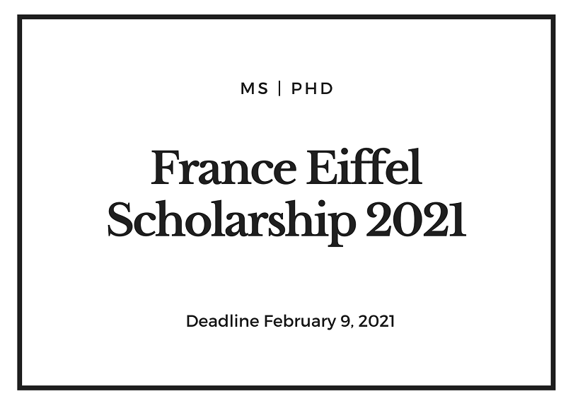 Eiffel Scholarships in France for international Students ...