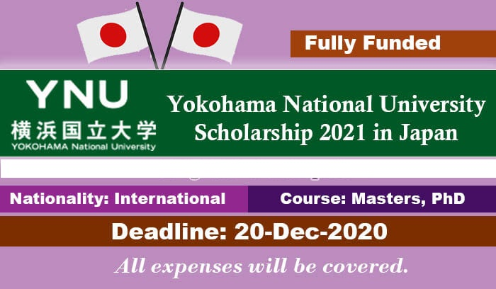 Yokohama National University Scholarship 2021 in Japan ...