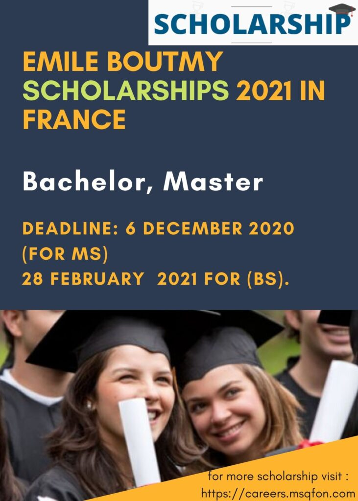 Emile Boutmy Scholarships 2021 in France (Funded) – Careers MQ